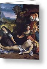 Lamentation Over The Body Of Christ 1517 Greeting Card