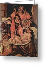Lamentation Over The Dead Christ 1490 Greeting Card