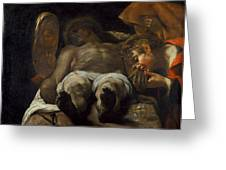Lamentation Over The Dead Christ Greeting Card
