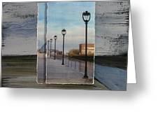 Lamp Post Row Layered Greeting Card