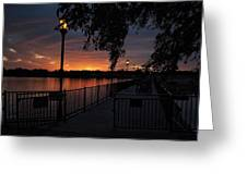 Lamplight And Daybreak  Greeting Card
