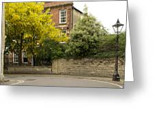 Lamppost On A Street Bend. Greeting Card