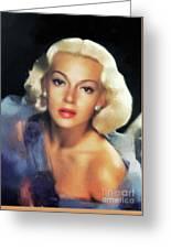 Lana Turner, Hollywood Legend Greeting Card