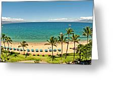 Lanai And Molokai Greeting Card by Jim Chamberlain