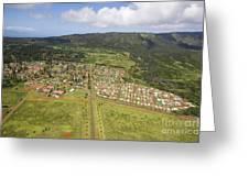 Lanai City Aerial Greeting Card