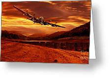 Lancaster Over Ouzelden Greeting Card by Nigel Hatton