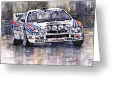 Lancia 037 Martini Rally 1983 Greeting Card by Yuriy  Shevchuk