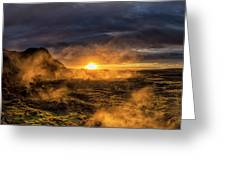 Land Of Fire And Ice Greeting Card