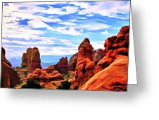 Land Of Moab - Watercolor Greeting Card