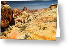 Land Of Sandstones Valley Of Fire Greeting Card