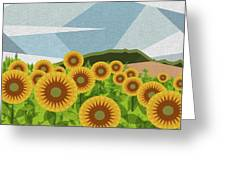 Land Of Sunflowers. Greeting Card
