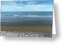 Land Sea And Ocean Background Greeting Card