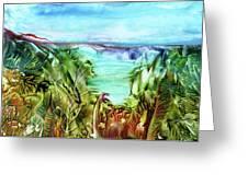 Land Sea And Sky Greeting Card