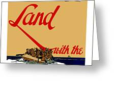Land With The Us Marines Greeting Card