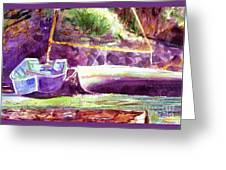 Landed Boats Greeting Card