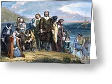 Landing Of Pilgrims, 1620 Greeting Card