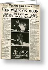 Landing On Moon, 1969 Greeting Card