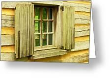 Landis Valley Window Greeting Card