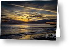 Lands End Sun Set  Greeting Card