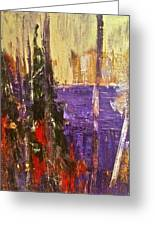 Landscape Abstract In Purple Greeting Card