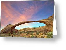 Landscape Arch Sunrise Greeting Card