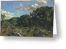 Landscape At Chailly Greeting Card