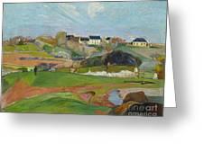Landscape At Le Pouldu Greeting Card