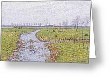 Landscape At Sluis Greeting Card