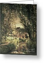 Landscape Greeting Card by Charles Francois Daubigny