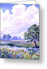 Landscape In Blues Greeting Card