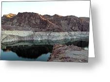 landscape in Hoover dam Greeting Card