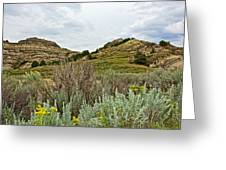 Landscape In Northwest North Dakota  Greeting Card