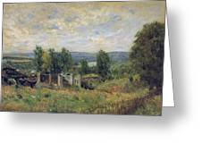 Landscape In Summer Greeting Card