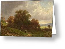 Landscape In The Loisach-valley Greeting Card