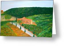 Landscape In Tuscany Greeting Card