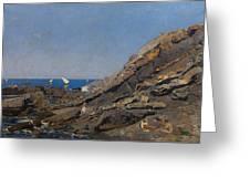 Landscape Marine Background Avendano Martinez, Serafin Greeting Card