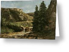 Landscape Near Ornans Greeting Card