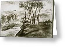 Landscape Near Osny  Greeting Card