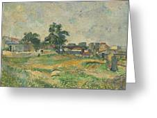 Landscape Near Paris Greeting Card