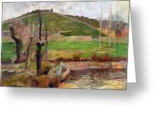 Landscape Near Pont-aven Greeting Card
