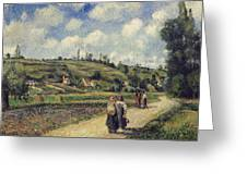Landscape Near Pontoise Greeting Card