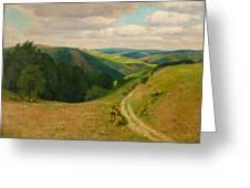 Landscape Near Schleiden In The Eifel Greeting Card