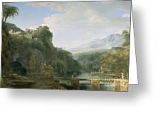 Landscape Of Ancient Greece Greeting Card by Pierre Henri de Valenciennes