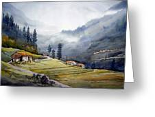 Landscape Of Himalayan Mountain Greeting Card