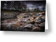 Landscape River And Bridge II Greeting Card