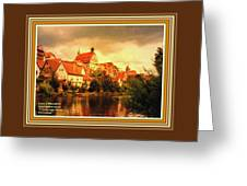 Landscape Scene - Germany L A With Decorative Ornate Printed Frame. Greeting Card