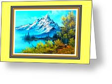 Landscape Scene Near Virginiahurst L B With Alt. Decorative Onate Printed Frame  Greeting Card