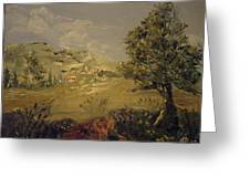 Landscape Study With Pallette Knife Greeting Card