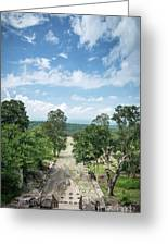 Landscape View From Preah Vihear Mountain In North Cambodia Greeting Card