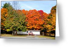 Landscape View Of Mobile Home 2 Greeting Card